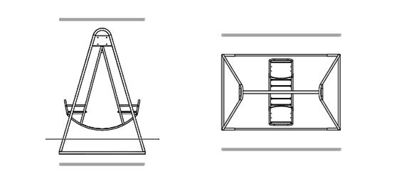 Как сделать металлические качели чертежи