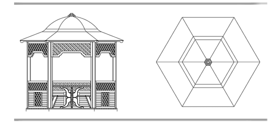 Как построить шестигранную беседку своими руками схема.